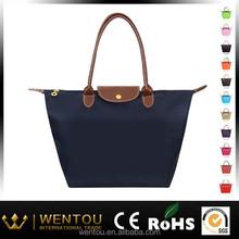 Hot sale nylon foldable tote beach bag