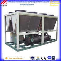 Double compresors series air cooled screw industrial water chillers price for injection molding machine