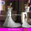 BY22 Manufacture Factory Mermaid Style Sweetheart Lace Appliqued Suzhou Wedding Dress