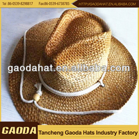 Promotional Langya straw cowboy hats with cheap price