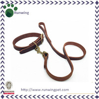 Top Sale Genuine Leather Dog Collar and Leash