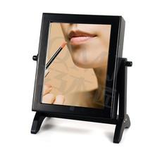 Black Jewelry Storage Box Mini Makeup Dresser with Mirror Storage