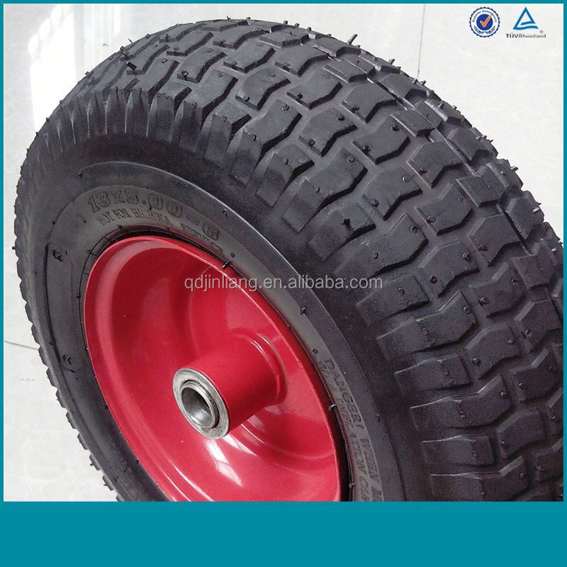 how to put rubber solid tyres on