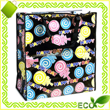 custom eco friendly tote grocery carry pp woven laminated reusable shopping bag with zipper