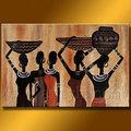peinture sur toile abstraite femme africaine