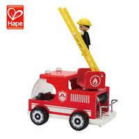 New design kid toy wood fire engine