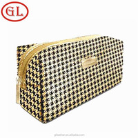 Fancy leather makeup bag fashion luxury cosmetic bag 2015