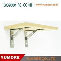 Stainless steel wall mounted ornament shelf brackets wholesale