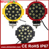 51 Watt Led Work Lights For Trucks Tractors And Vehicles IP68 Yellow Red Black Ring