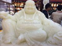 White Onyx Maitreya Buddha Statue Carving Sculptures