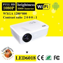 data show Android Projector 3000 lumens 1280*800 Home theater LED Projector USB TV Full HD 1080P WIFI