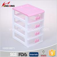 children girl plastic desk tool storage cabinet 4 drawer boxes