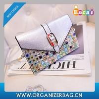 Encai Diamante PU Shoulder Bag Wholesale Leisure Bag High Quality Light Handbag For Ladies