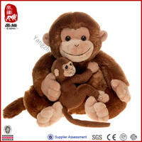 Wholesale Soft Plush Wild Animal Toy Mother and Son Stuffed Monkey