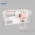 2015 alta calidad de encargo versátil portable modular exhibición de la feria, stands ferias y stand soporte