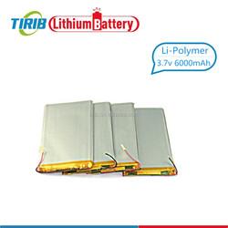 Fast Shipping Long Life Cycle Li ion Polymer Battery 3.7v 6000mah