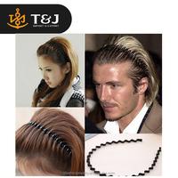2015 hot selling Mens Women Unisex Head Hoop Band Black Wavy Hair Accessories cheap Sport Headband