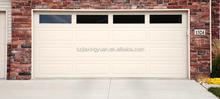 Sectional steel single panel garage doors