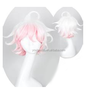 The Broken 2 Projectile short white and pink mixed color cosplay wig, japanese pink cosplay wigs, short curly white wigs
