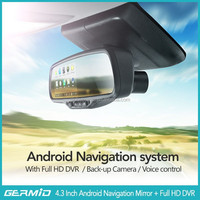 5 inch android car rearview mirror monitor GPS + 1080P DVR+Bluetooth+ FM Transmitter+MP5+Android (WIFI)