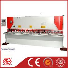 QC11K CNC iron sheet cutting machine Guillotine Shear Machine , hydraulic metal cutter