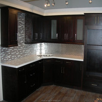 Espresso shaker wood kitchen cabinet