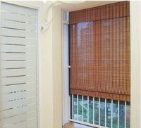 Horizontal Motorized Bamboo Curtain Blind Shade