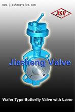 oblea de tipo resistente de la válvula de mariposa con la palanca de pn16