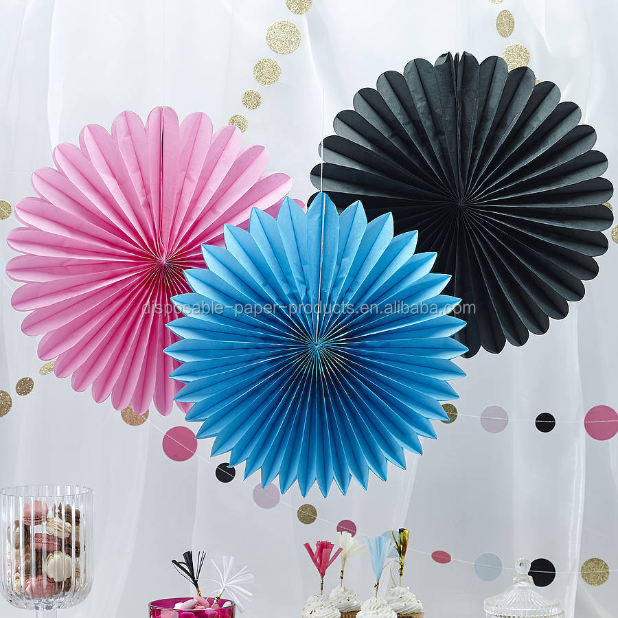 Laat Hanging Paper Fan Paper Poms Baby Shower Party Supplies Wedding