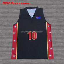 Sublimated black basketball jersey with high quality