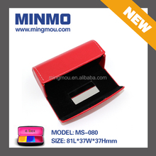 2015 new products royal contact lens case, red small cute glasses case with mirror, gift boxes wholesale