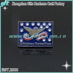 unique eagle custom magnet name badges/ whiskey custom badge