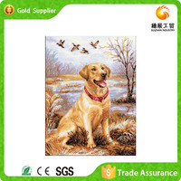 Fast supplier manufacture disposable diamond painting living room decoration cross stich diy canvas animals painting
