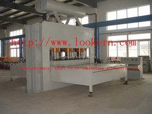 Short cycle mdf melamine press machine/hydraulic double sided laminate hot press machine/particle board laminated press line