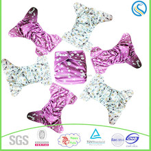 Happy flute toddler baby cloth diaper,double row round wings,adjustment ,washable, pattern PUL nappy,wholesale in China