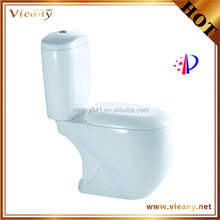 vieany soft close two piece white ceramic sanitary ware Toilet