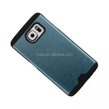 Top selling Metal Combo case for samsung galaxy s6 G9200,Hardware Combo style back cover case