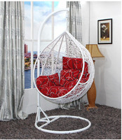 balcony white rattan swing chair reclining outdoor swing chair