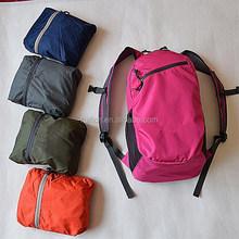 Waterproof folding nylon travel backpack foldable travel bag
