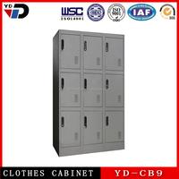 Metal high quality furniture nine door clothing steel locker/wardrobe in India market