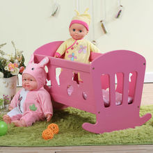 "HT-PDF018 50.5X39X(H)29.5cm Assembling Educational Wooden Toy, 18"" Wholesale Wooden Doll Furniture With Mattress"