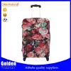 Decent ladies pink flowers popularity unique style travel trolley luggage bags