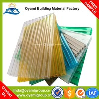 New type 10 years guarantee thermal insulation pc twin-wall sheet