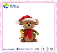 Adorable Plush Christmas Musical Mouse Stuffed Toy