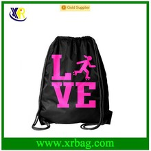 Black Skating Roller Square Love Drawstring Bag