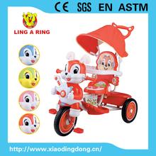 2015 novo modelo de cabeça de coelho bebê triciclo / crianças triciclo com música e luz