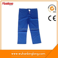 Comfortable hospital use blue color scrubs suits