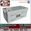 sealed 1ah~250ah battery, 12v 200ah sealed maintenance free battery