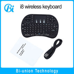 hot selling 2.4G Mini i8 Wireless Keyboard with Touchpad 2.4g air mouse keyboard