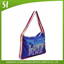 Hottest tote shoulder bags /shoulder carrying bags /custom printed canvas cotton bag Love &Peace